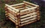 kompostér z kulatiny