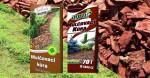 tráva a mulčovací kůra