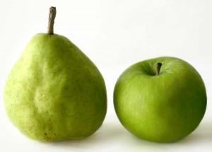 hruška a jablko