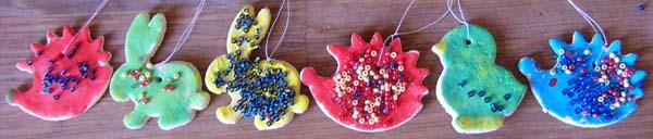 dekorace ze slaného těsta