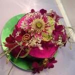 květinové aranžmá dort