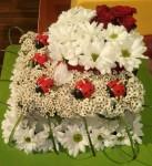 květinový dort z chryzantém
