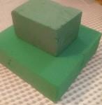 zelená aranžovací hmota
