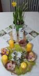 velikonocni dekorace stolu
