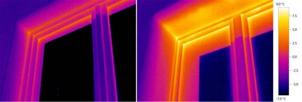 Úniky tepla na termosnímku