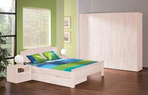 postel drevena laura