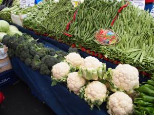 zelenina je vždy pečlivě poskládána a vystavena