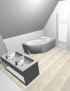 navrh koupelny