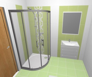 navrh male koupelny