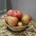 jablka na slame nahled