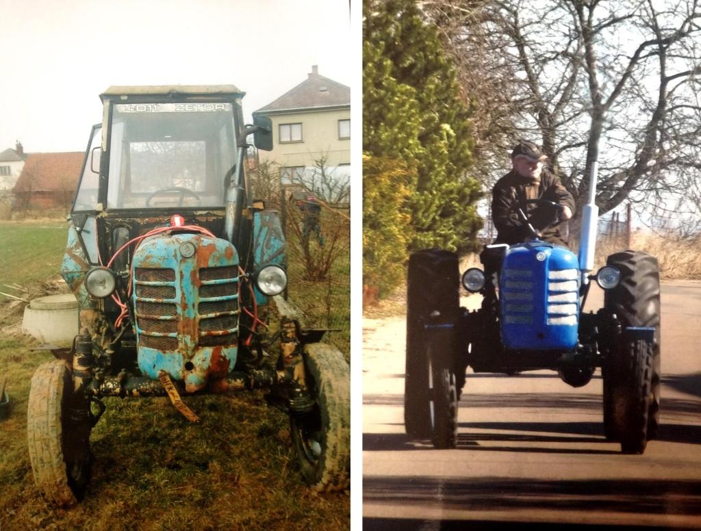 traktor pred a po