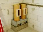 05 osazení komínového čističe pro naměření výřezu 2. tvárnice