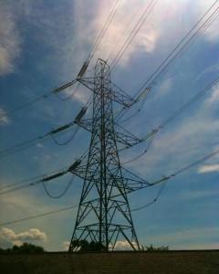 elektricka energie sloup