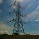 elektricka energie sloup nahled