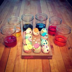 velikonoce barveni vajec