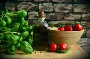 olivovy olej rajcata bazalka