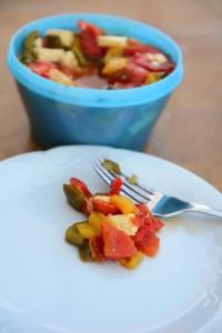 salat z pecenych paprik