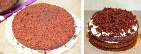 red velvet recept dort