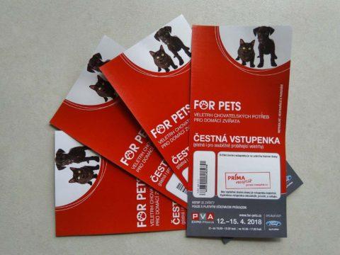 vstupenky for pets zdarma 2018