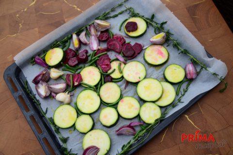 grilovana zelenina s cesnekovymi vyhonky