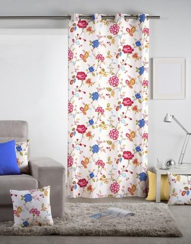 Květinový závěs Rosane rozzáří obývací pokoj i ložnici