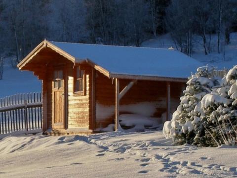 zahradni domek v zime