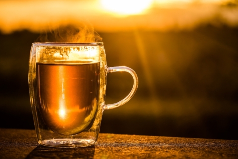 česnekový čaj