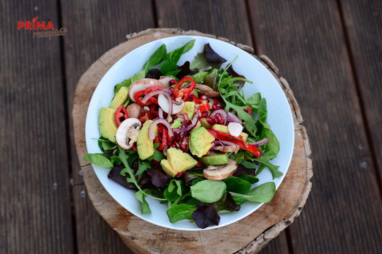 zeleninovy salat s avokadem