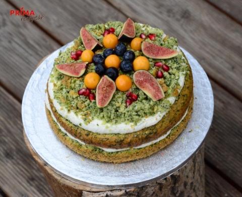 zeleny mechovy dort